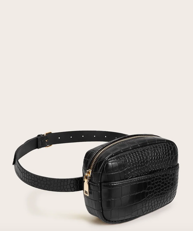 Croc Zip Belt Bag