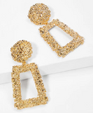 Textured Rectangle Earrings