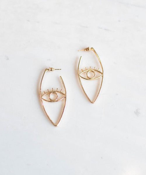 Golden Eye Earrings