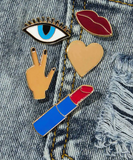 Peace, Love & Lipstick Pins