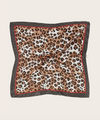 Pleated Leopard and Polka Dot Scarf