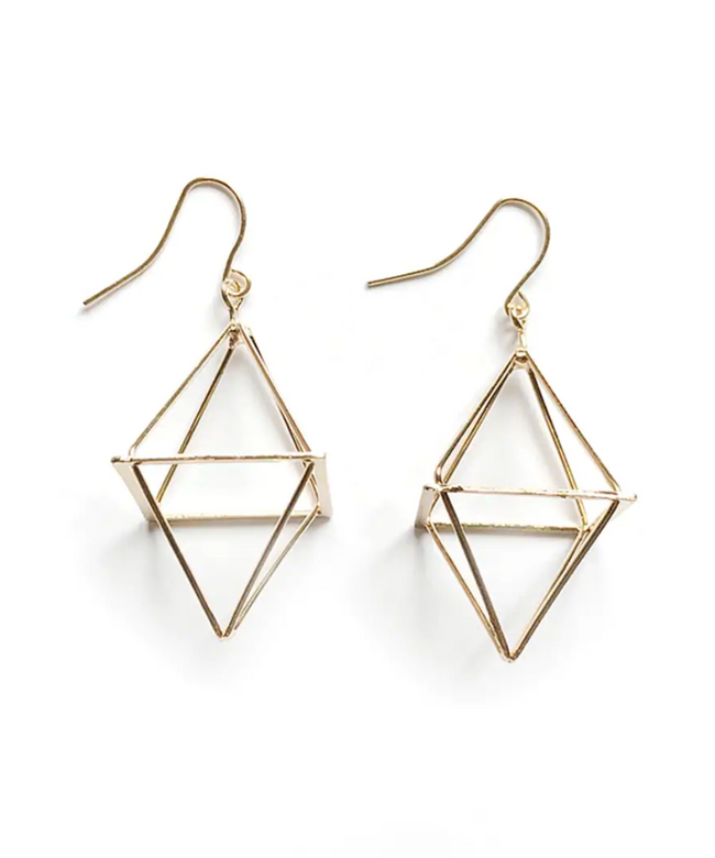 Geometric Pyramid Earrings