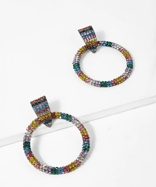 Jewel Hoop Earrings