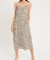 Tan Leopard Midi Dress