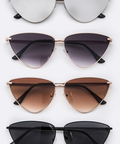 Metal Frame Triangular Sunglasses