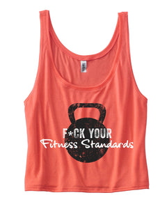 F*ck Your Fitness Standards Ladies Flowy Boxy Tank