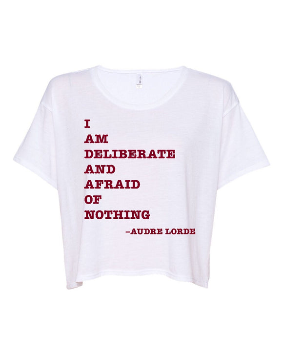 I Am Deliberate Cropped Boxy Tee