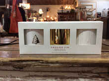Thymes Frasier Fir Gilded Candle Trio