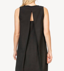 Lilla P Pleat Back Sleeveless Dress