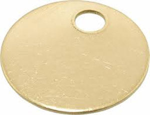 "1"" Brass Tags"