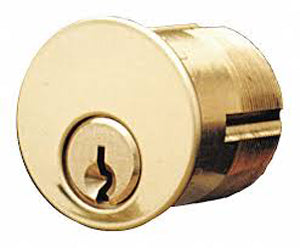 "1"" Mortise Cylinder Kwikset Keyway Polished Brass 7165KS1-03-KA2"