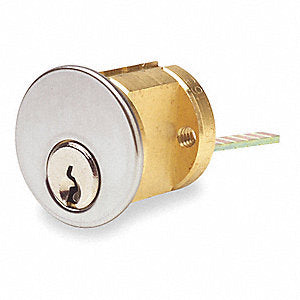 Rim Cylinder Kwikset Composite Keyway 26D Satin Chrome Finish 7075KS-26D-KA2