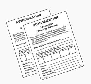 Authorization Forms 250 pack