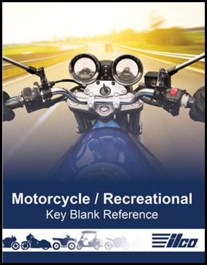 Motorcycle and Recreational Vehicle Key Blank Reference