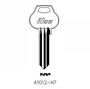 A1012-H7 Bag of 10 Nickel Silver Key Blanks Close-Out