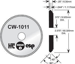 CW-1011 Cutter for HPC Blitz 1200 machines