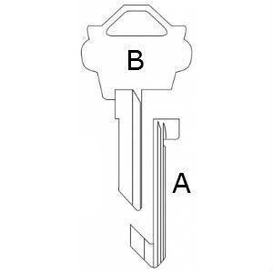 Lock Out Key Blank for Schlage SC-LO