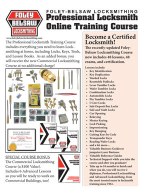 Free Download of Information on the Foley-Belsaw Locksmithing Correspondence Course