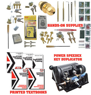 Institutional Locksmithing Online Course with 9180MC Power Speedex Key Machine