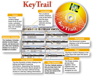 Key Trail Key Tracking Software CD-ROM