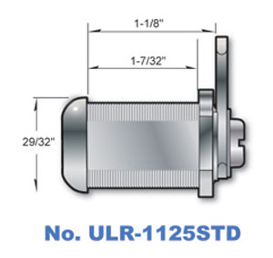 "1-1/8"" Cam Lock with Stainless Steel finish ULR1125STD"