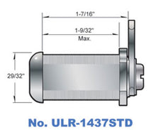 "1-7/16"" Cam Lock with Stainless Steel finish"
