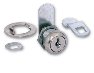 "7/16"" Cam Lock with Stainless Steel finish"