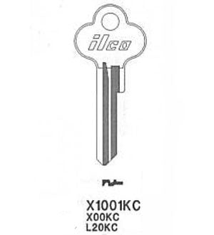 X1001KC Bag of 10 Nickel Plated Key Blanks Close-Out