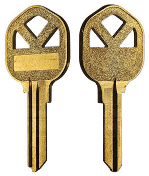 KW1 BIG HEAD Bag of 5 brass key blanks