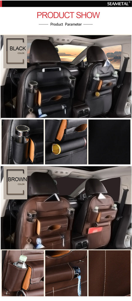 Car Seat Back Storage Bag Protector Kids Drink