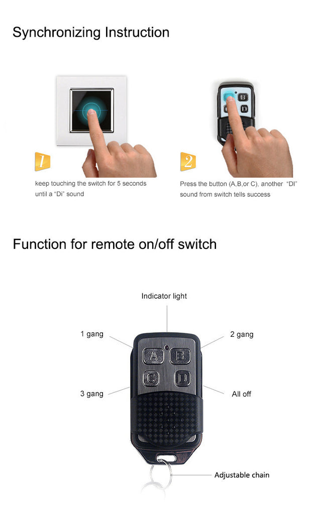 Wall Light Remote Switch Controller VL-RMT-02