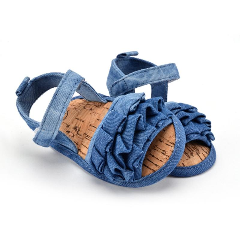 Baby denim shoes Anti-slip Solid Toddler