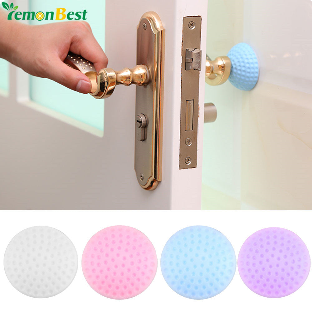 Wall Protection Stickers Thickening Mute Door Fenders Golf Modelling Rubber Fender The Handle Door Lock After Protective Pad