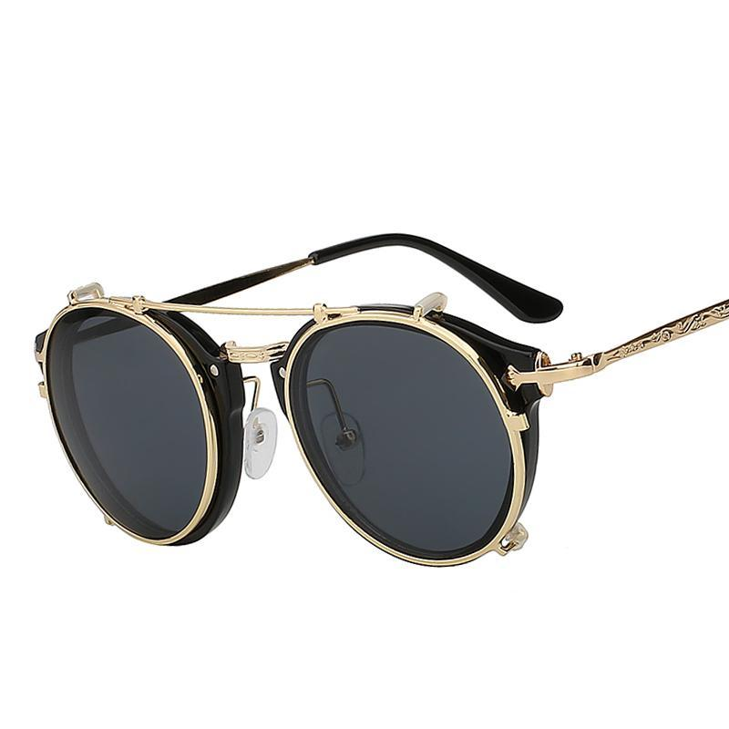 Clip-On Retro Sunglasses