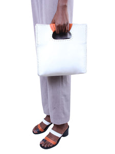 The Nkiru shopper tote - white