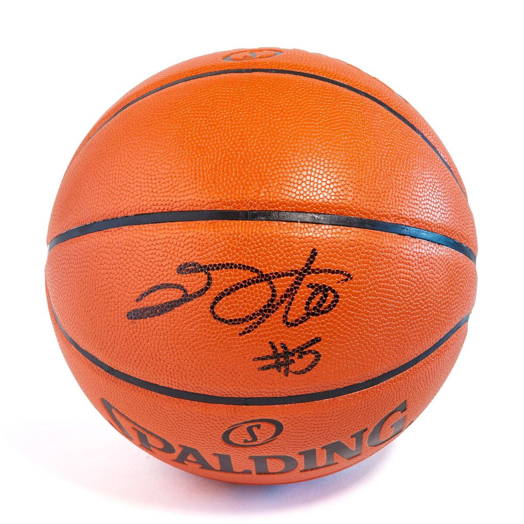 De'Aaron Fox Sacramento Kings Officially Licensed Spalding NBA Replica Game Ball Signed in Black Paint Marker