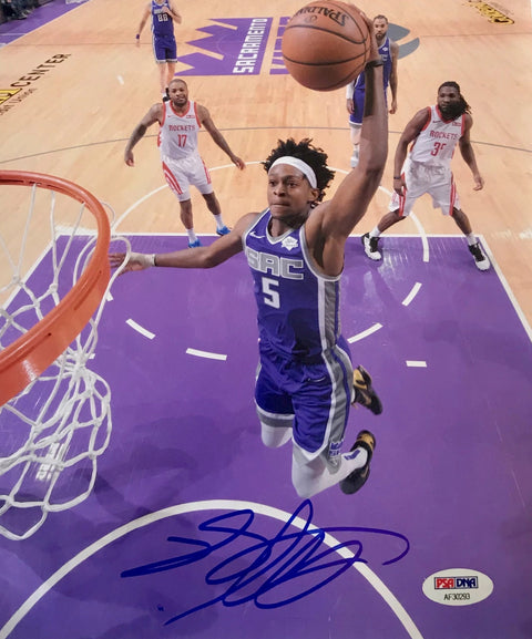 De'Aaron Fox Sacramento Kings Authentic Autographed 8x10 Dunk Photograph