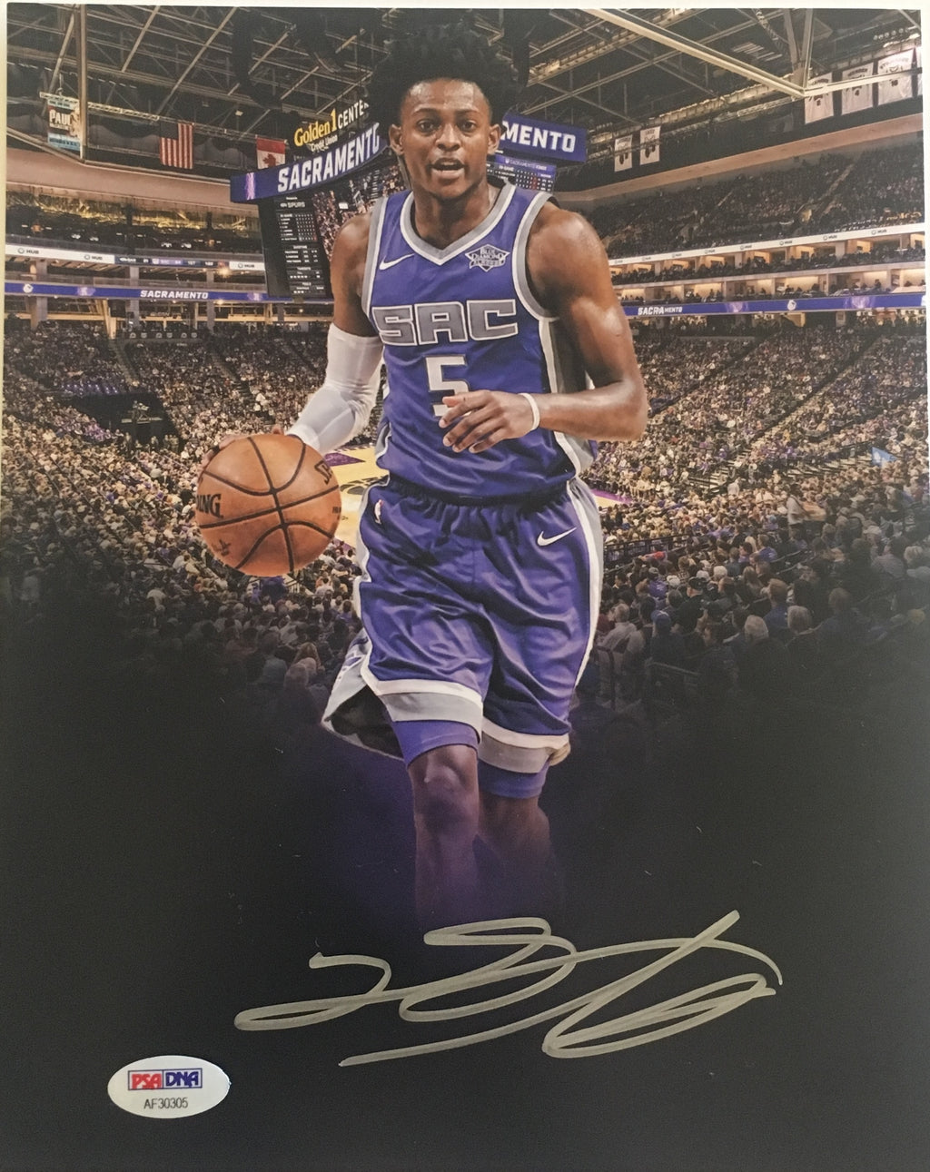De'Aaron Fox Sacramento Kings Authentic Autographed 8x10 Photograph