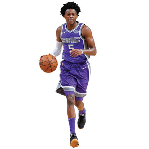 Autographed De'Aaron Fox Sacramento Kings Fathead Life Sized Wall Decal