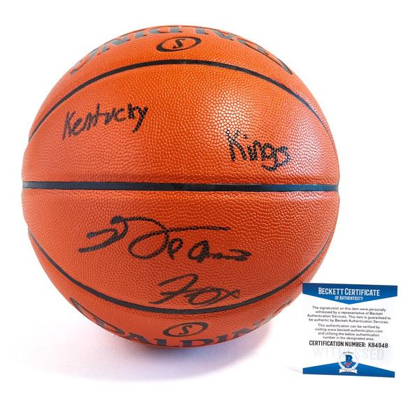 "De'Aaron Fox Sacramento Kings Officially Licensed Spalding NBA Replica Game Ball Signed in Black Paint Marker with Inscription ""Kentucky Kings"""