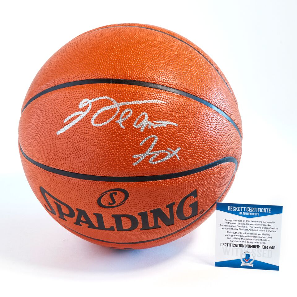De'Aaron Fox Sacramento Kings Officially Licensed Spalding NBA Replica Game Ball Signed in Silver Paint Marker with Unique Full Name Signature