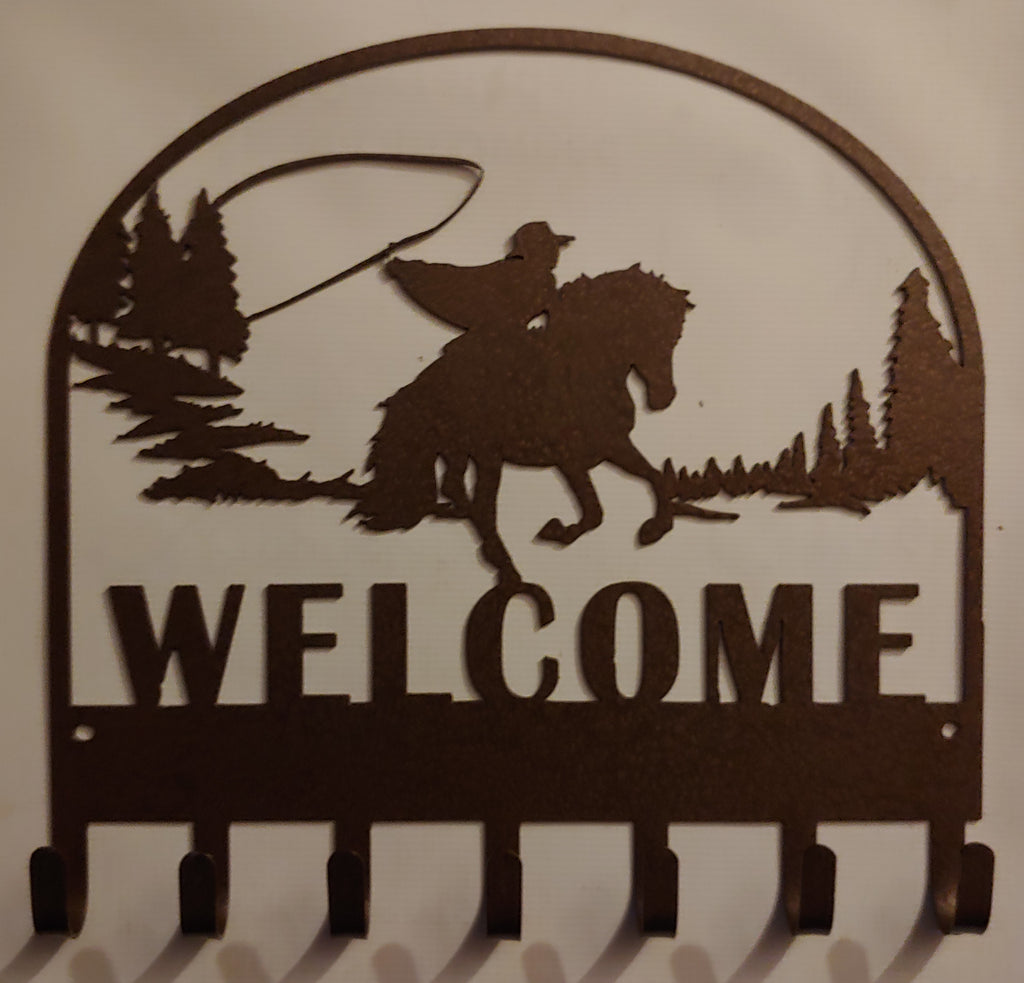 Cowboy Welcome Key Rack