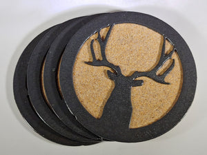Steel Coaster - Front Buck (Set of 6)