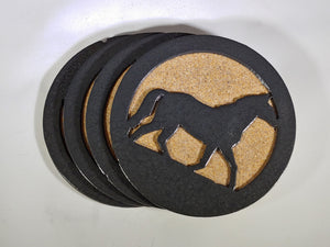 Steel Coaster - Horse (Set of 4)