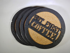 Steel Coaster - First Coffee (Set of 3)