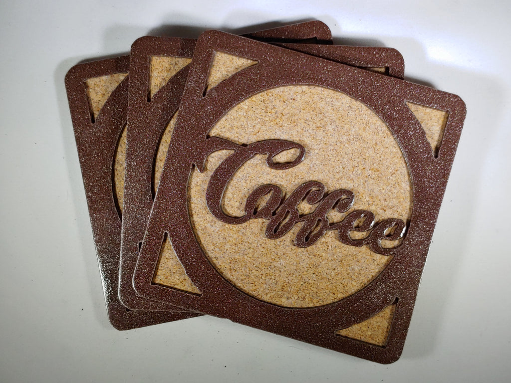 Steel Coaster - Coffee (Set of 3)