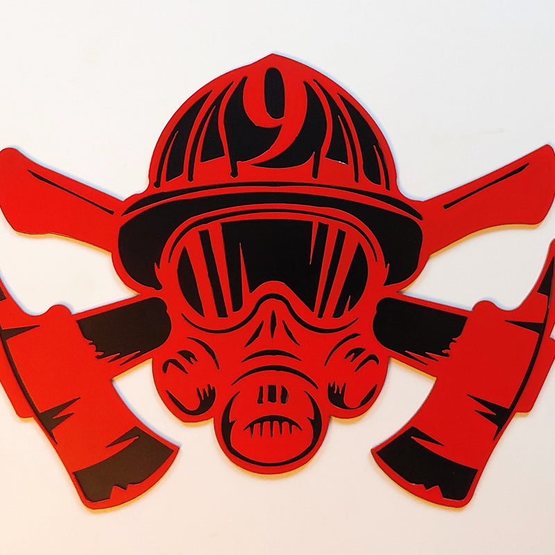 Crossed Axes w/SCBA Mask (2 colors)