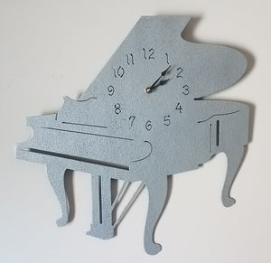 Classic Grand Piano Metal Quartz Clock