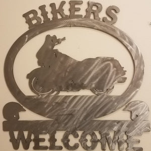 Bikers Welcome Sign
