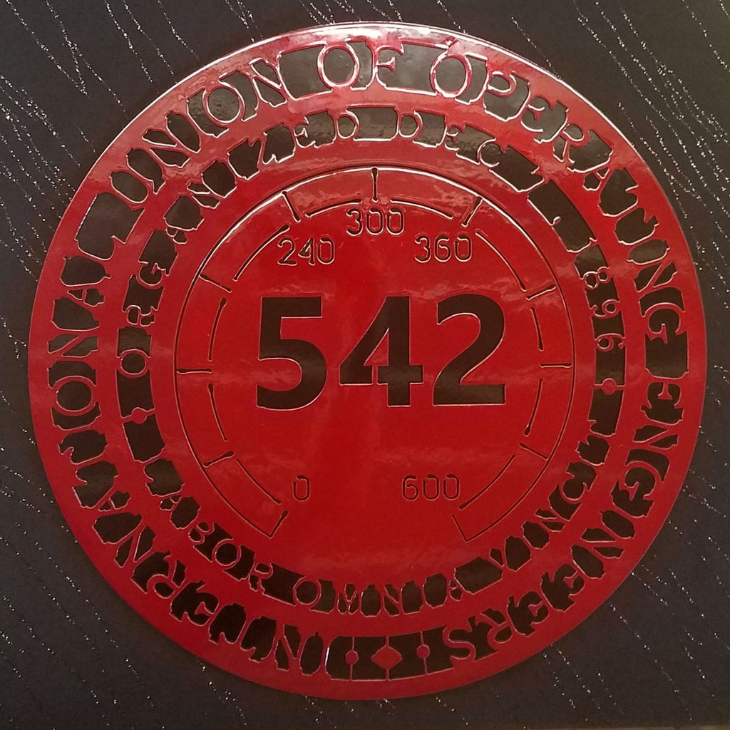 Local 542 (2 color) Black & Red shown